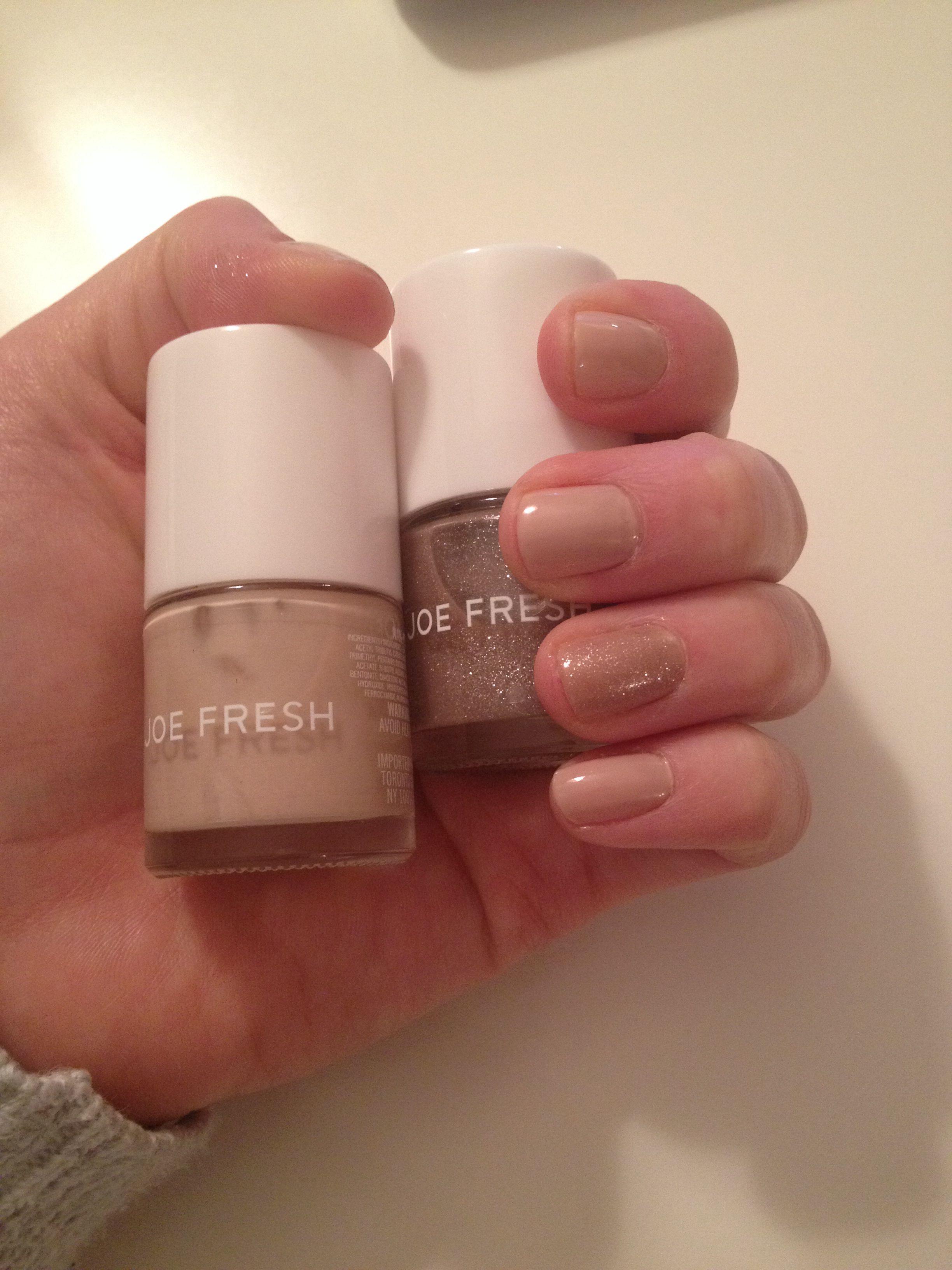 New favorite Joe Fresh nail polish colours. Bare and Nude Glaze ...