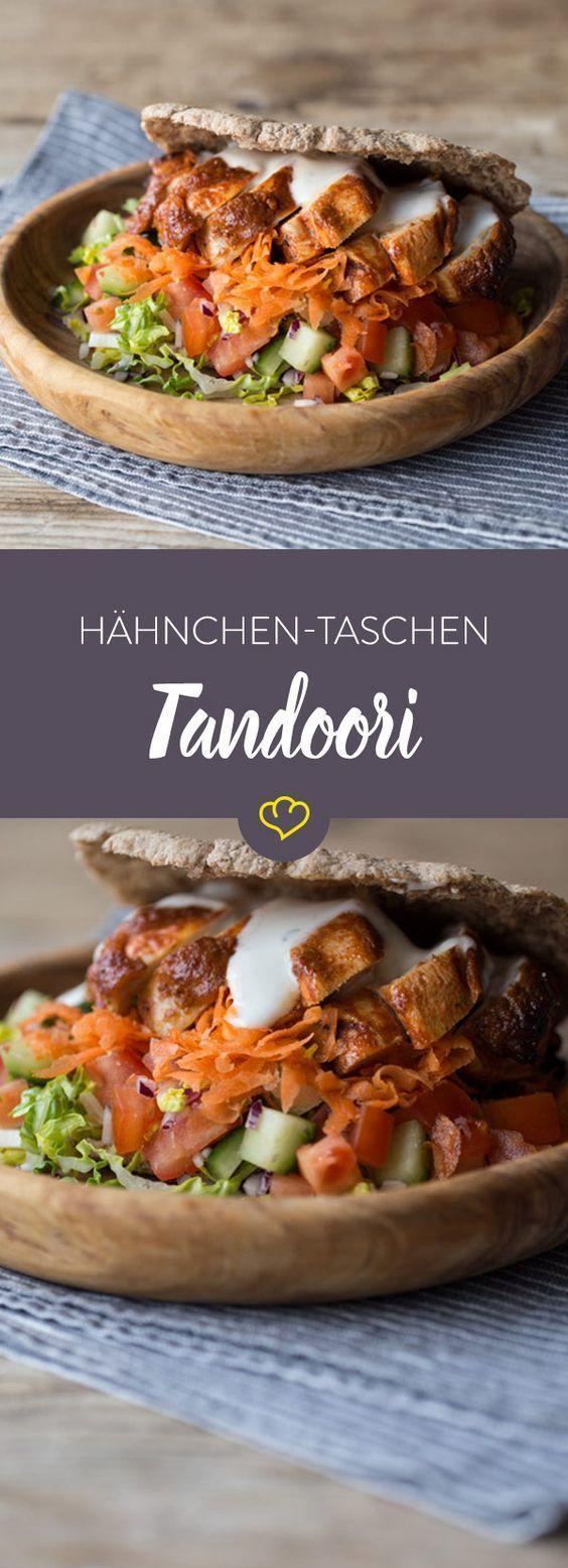Tandoori Hähnchen-Taschen