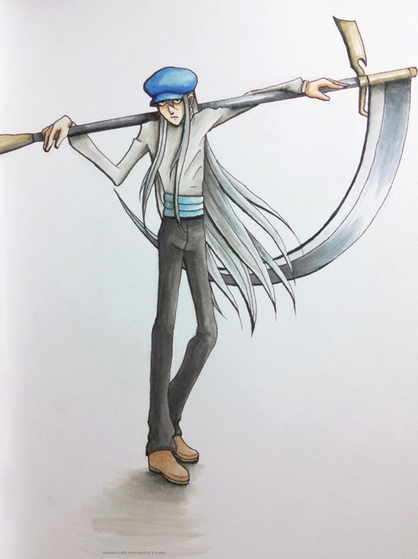 One of my favorite characters from my favorite anime hunterxhunter. Kite with his badass scythe. Or is his name Kaito?