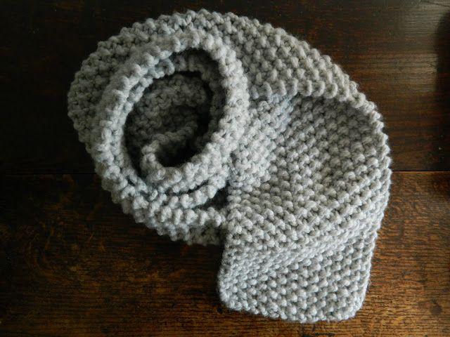 Super Chunky Moss Stitch Scarf Knitting Pattern - Free ...