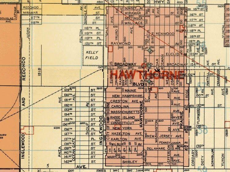 Hawthorne California Map.Old Hawthorne California Activities California Hawthorne