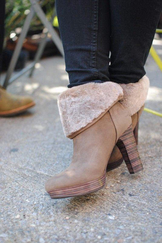 69da8294c90 UGG Australia's high heeled bootie for women - the #Dandylion Nubuck ...
