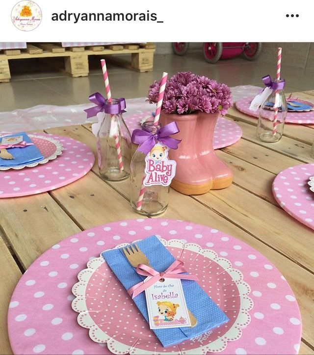 Decoracao By Adryanna Morais Baby Alive Baby Party Doll Party