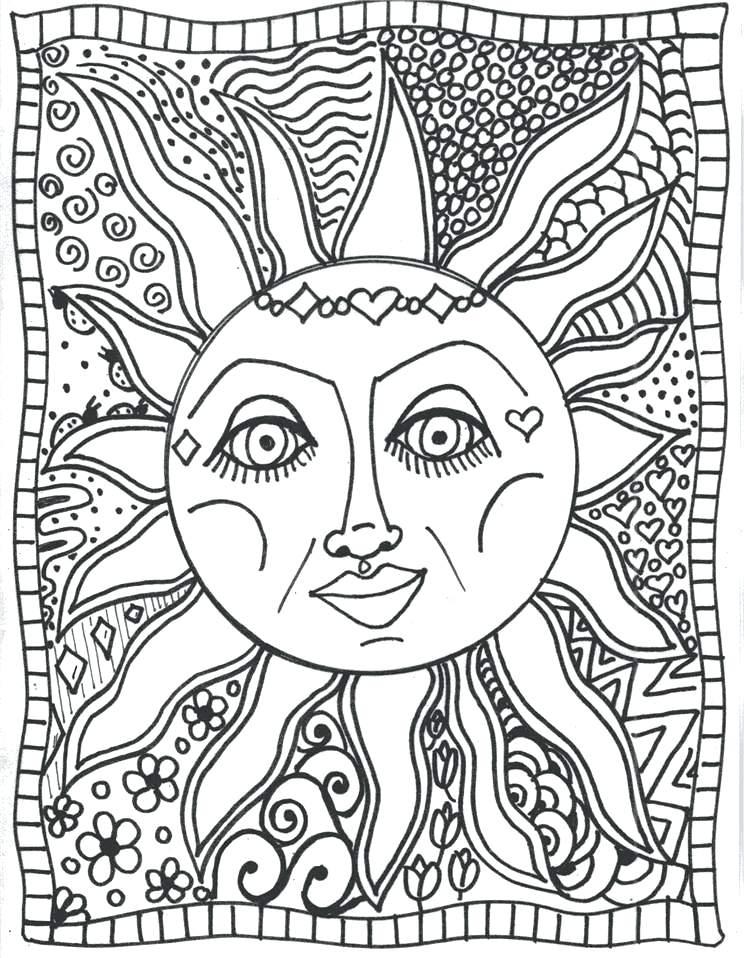 Trippy Coloring Pictures Coloring Pages Easy For Kids Psychedelic Coloring Games Online Free Moon Coloring Pages Tumblr Coloring Pages Sun Coloring Pages