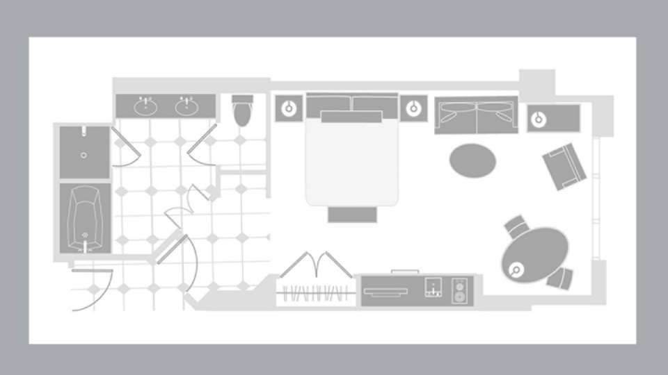 Mgm signature deluxe balcony suite floor plan travel interesting places pinterest mgm for Mgm signature 2 bedroom suite floor plan