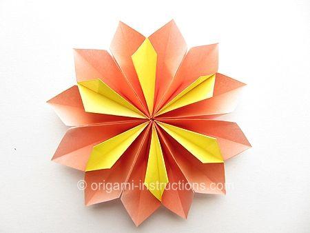 Origami Yamaguchi Dahlia Flower Folding Instructions Diy Origami Origami Rose Origami