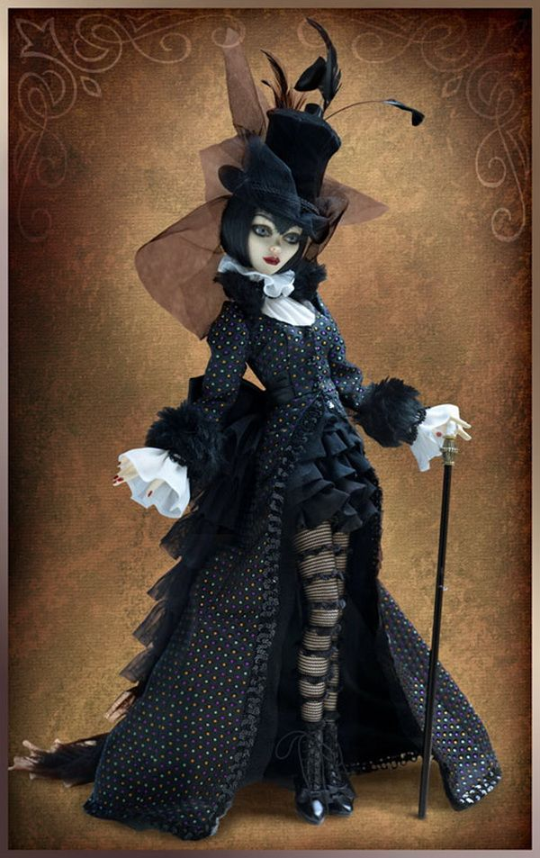 Doll. Awesome goth, Victorian-y outfit, Go To www.likegossip.com to get more Gossip News!