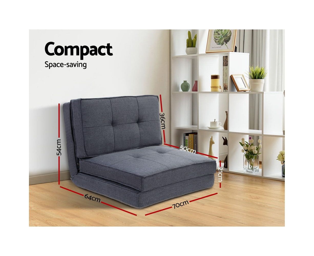 Floor Sofa Lounge Folding Chair Futon Couch Legless Seat