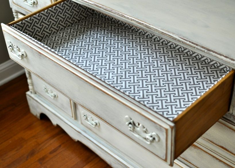 Fabric Lined Drawers I D Love To Paint A Dresser Add Some Snazzy S And Line It With