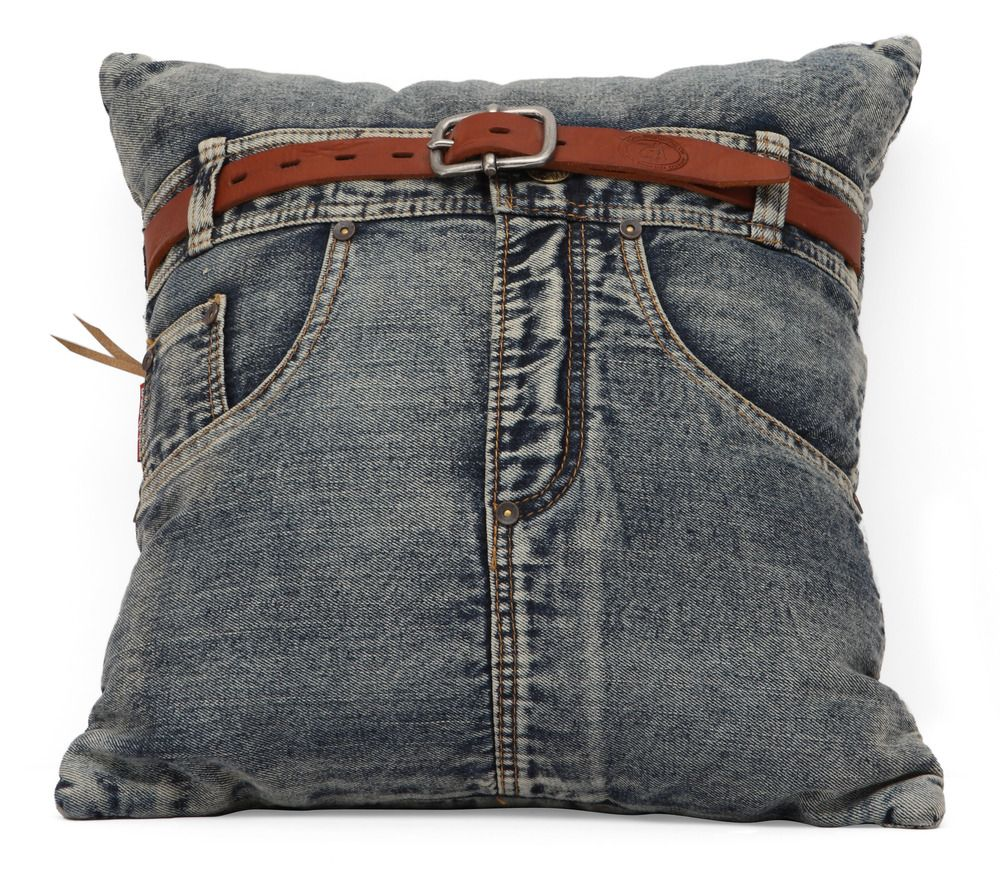 Made From Recycled Denim Fabric Sewn Into A Whimiscal