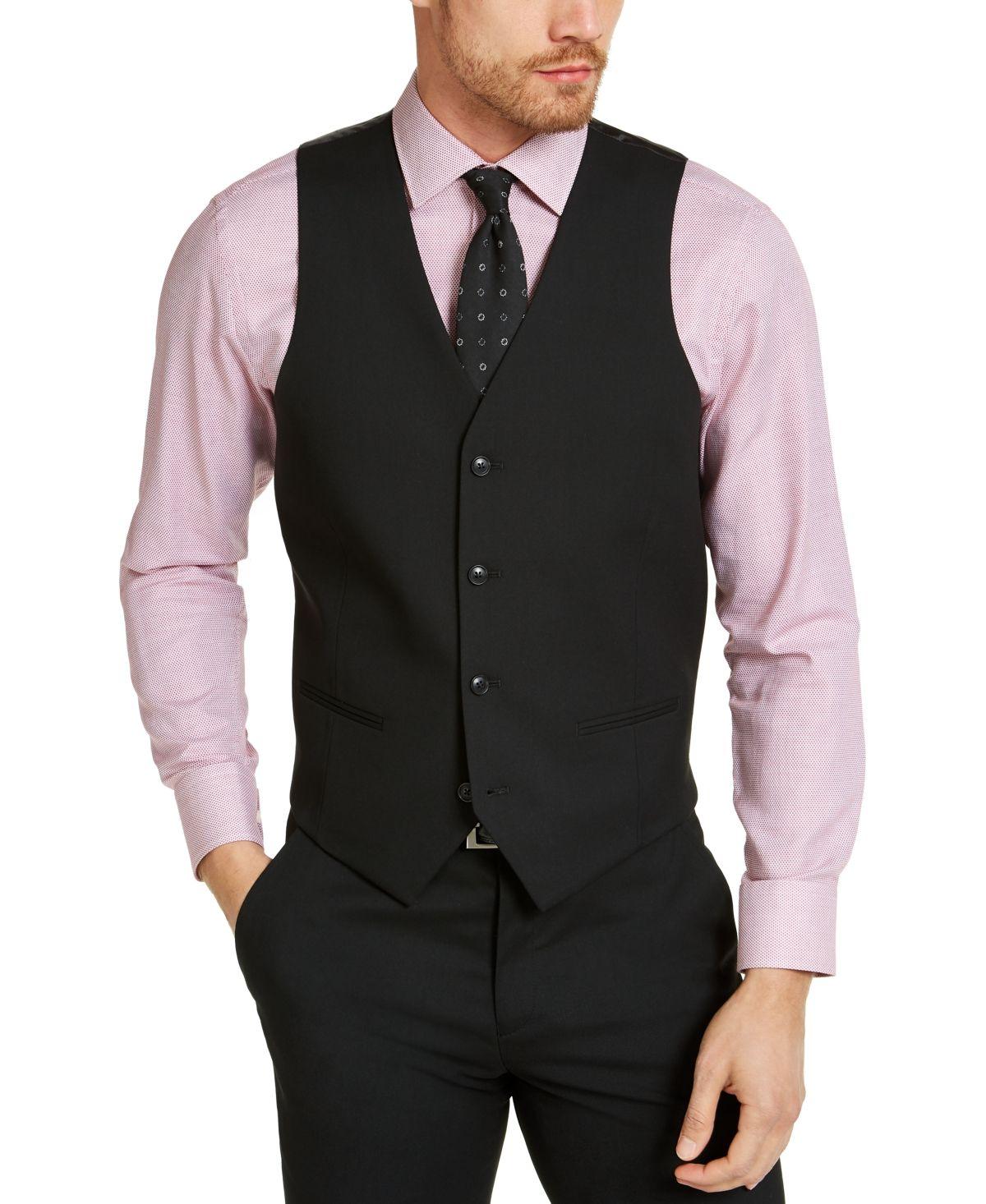 Alfani Men S Slim Fit Stretch Solid Suit Vest Created For Macy S Reviews Suits Tuxedos Men Macy S In 2021 Mens Vest Fashion Men Vest Outfits Vest Outfits Men [ 1466 x 1200 Pixel ]