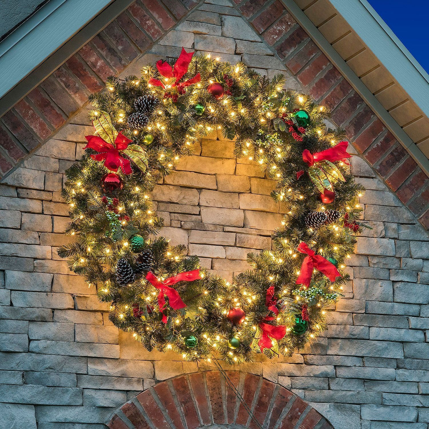 Pin By London Bridge On Christmas Large Christmas Wreath Outdoor Christmas Wreaths Christmas Wreaths With Lights
