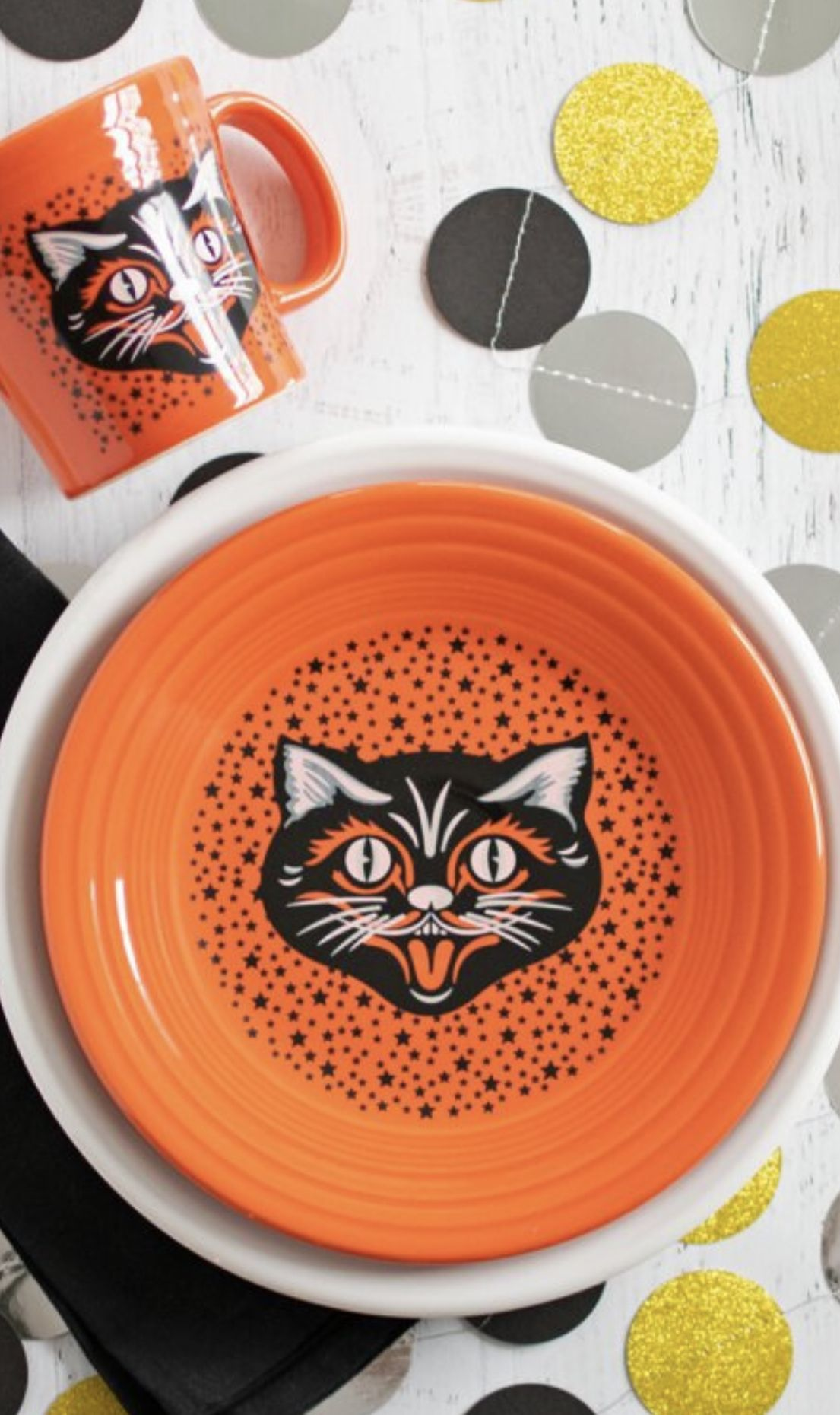 When Does Halloween 2020 Come Out In China Fiesta Black Cat in 2020 | Halloween dinnerware, Halloween