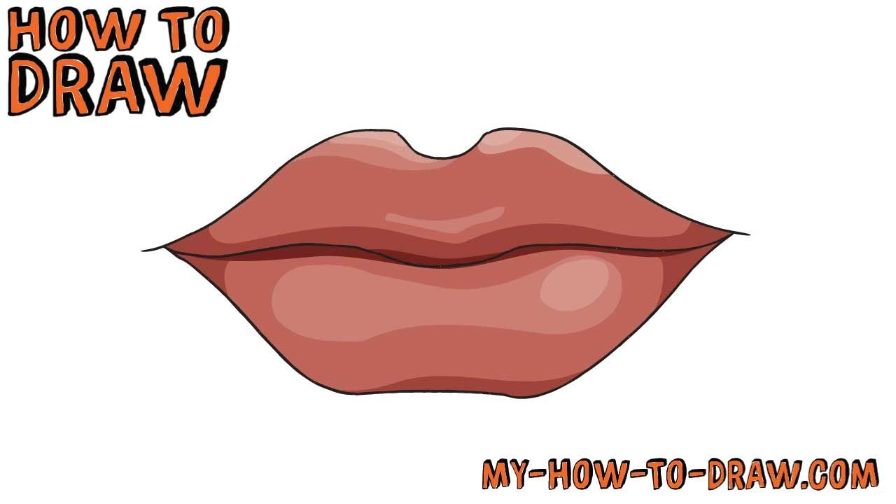 How To Draw Lips Super Easy Step By Step Drawing Tutorial In 2020 Lips Drawing Step By Step Drawing Drawing Tutorial
