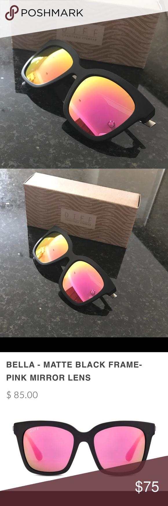 d82f1f42f9c Diff Eyewear Bella Frames w  Pink Mirror Lenses Brand new  never worn! The