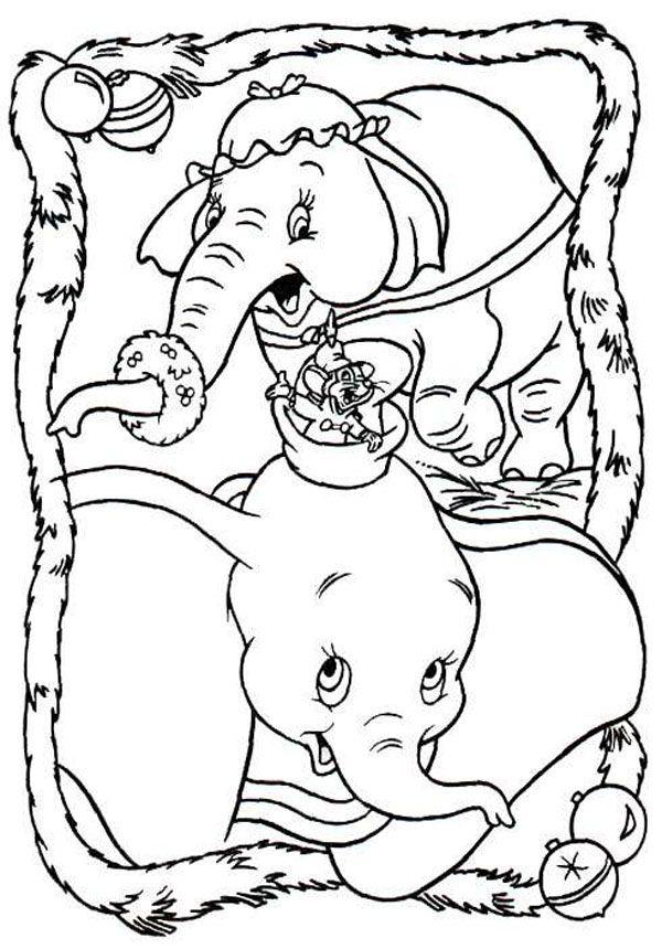 Dibujos de Navidad para colorear de Disney | Pinterest | Punch ...