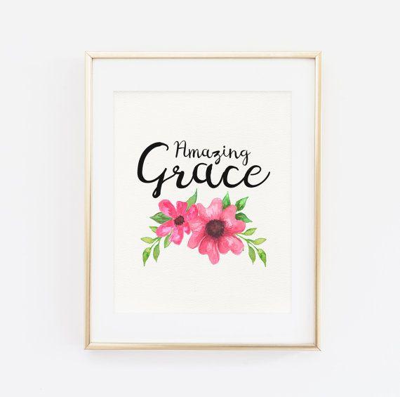 Amazing Grace Art Print Gold
