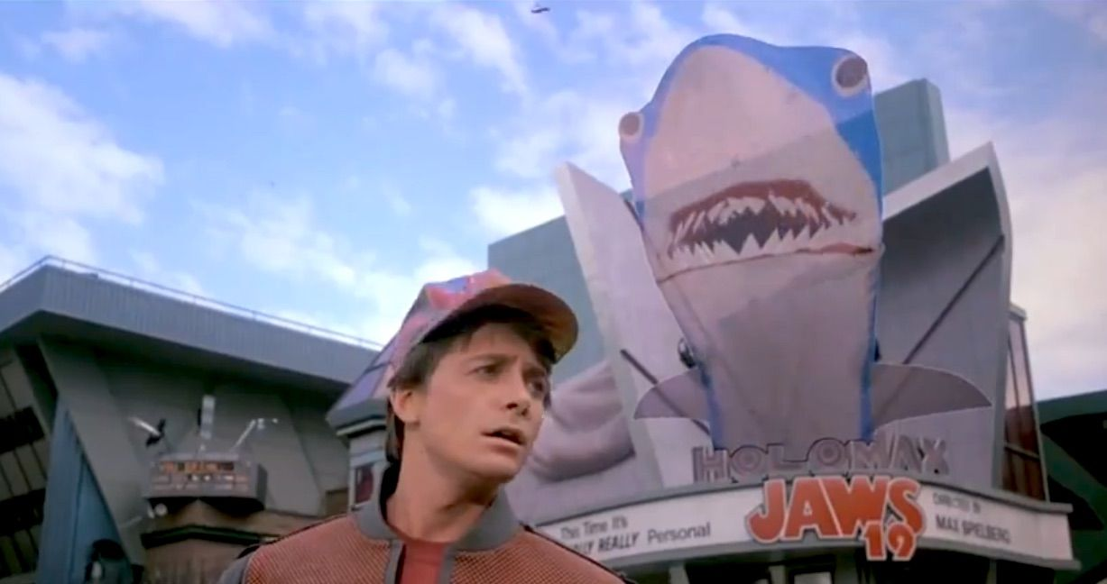 Halloween Couple Costume Idea: Jaws 19 & Marty McFly