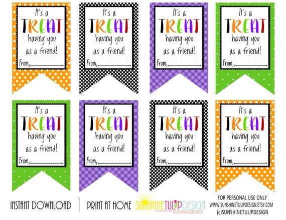 photograph relating to Printable Halloween Gift Tags identified as Its a Take care of consuming on your own as a buddy printable tags