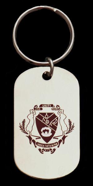 Lambda Theta Alpha Metal Letter Keychain