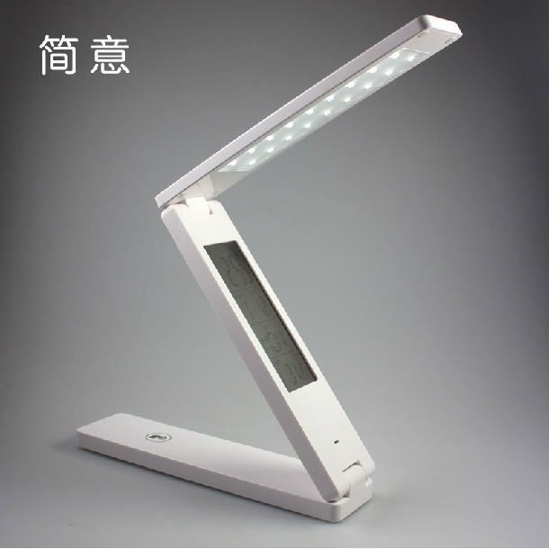 Foldable folding touch controlled table night reading light 24 led desk lamp night lights