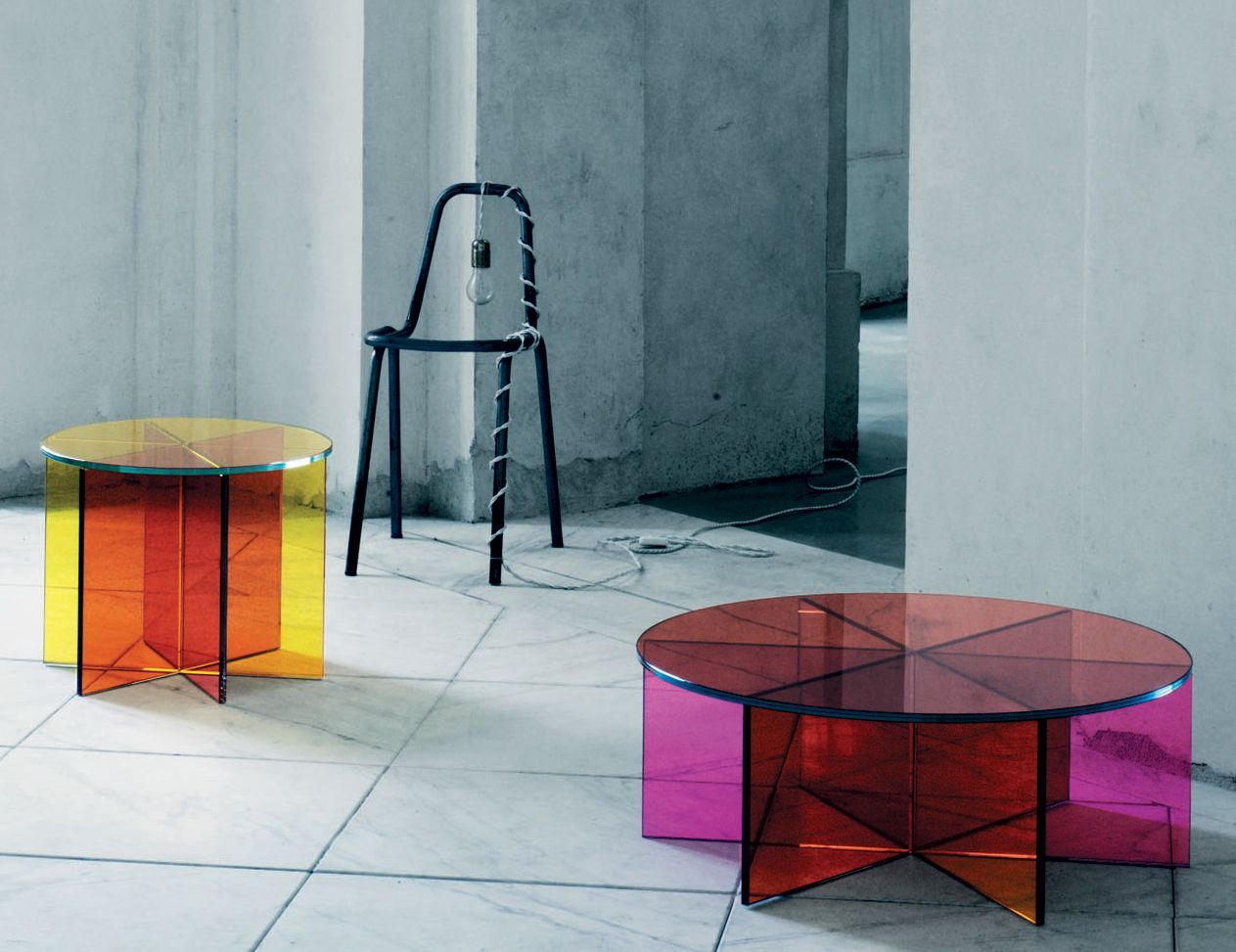 XXX Luxury Italian Coffee Table Shown In Transparent Colored Glass. This  Contemporary Glass Furniture Collection Features Thick Laminated Pink,  Yellow, ...