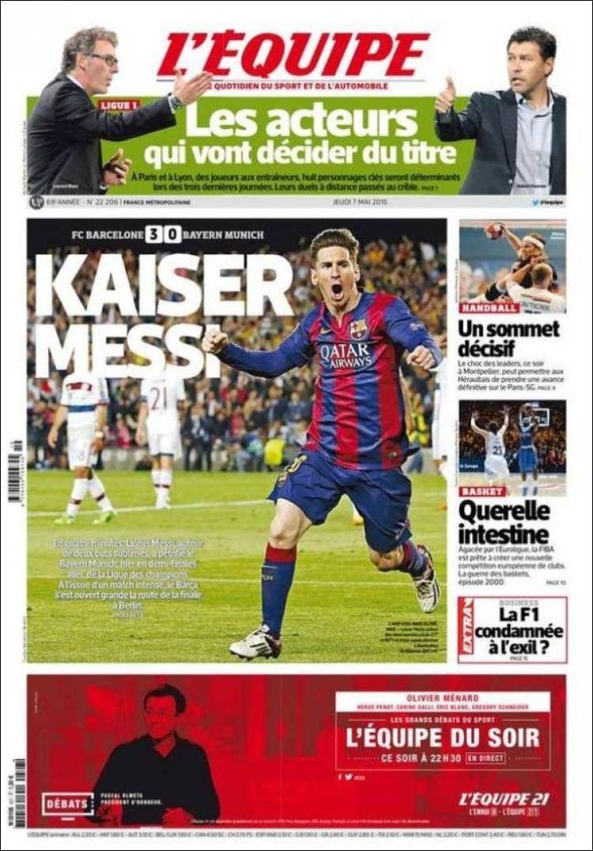L'Equipe (7 de mayo de 2015) Periodico deportivo, El