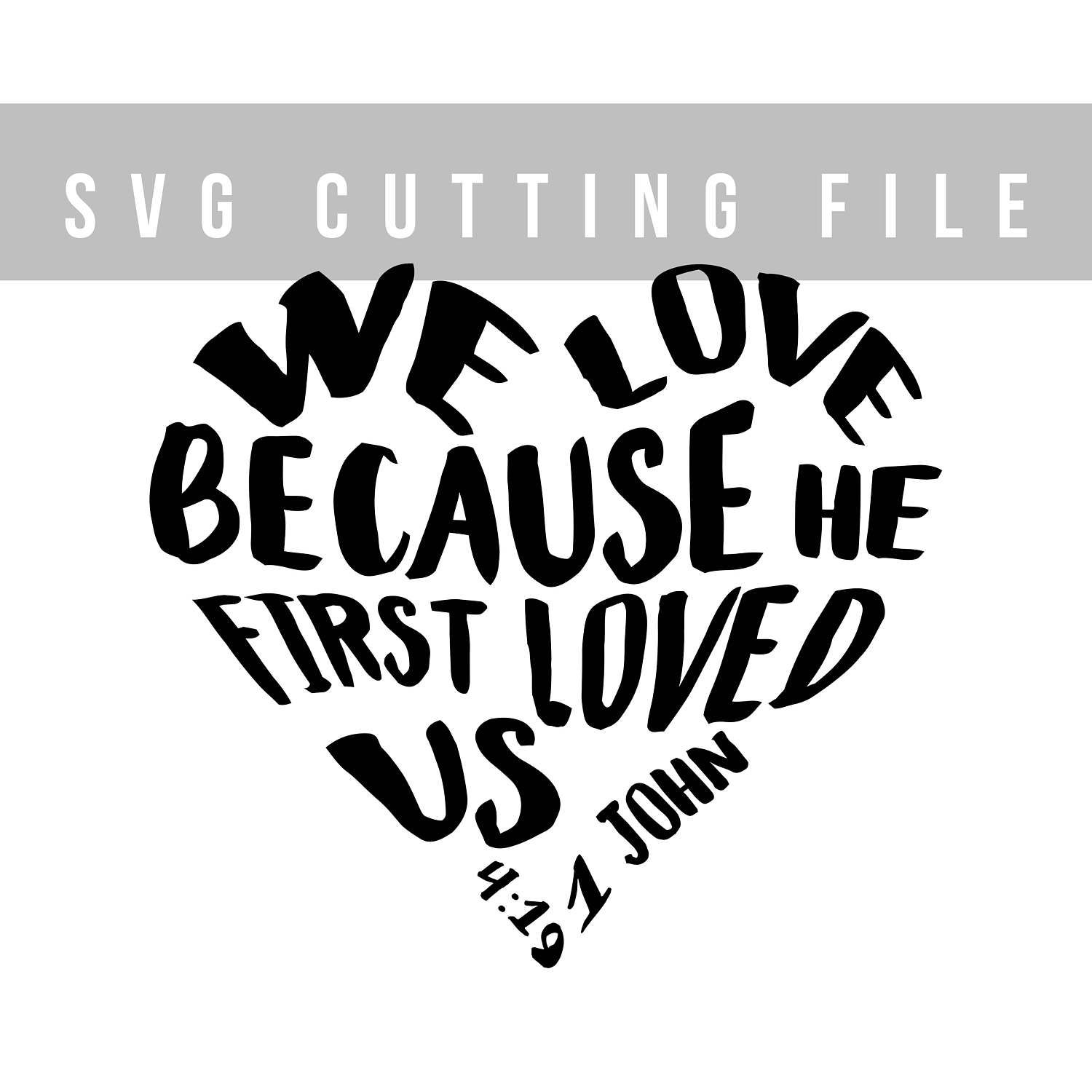 Bible Verse Svg File For Cut Vinyl Design Svg Heart Shaped