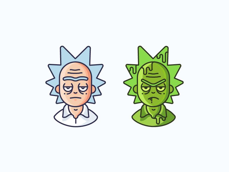 Rick Toxic Rick Cartoons Vector Rick And Morty Animal Logo