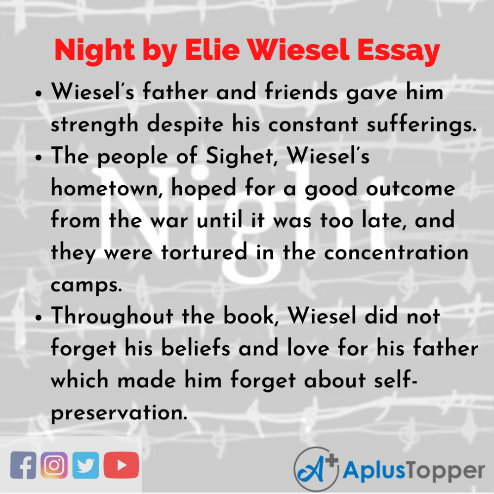 Pin On Night By Elie Wiesel Essay Concentration Camp