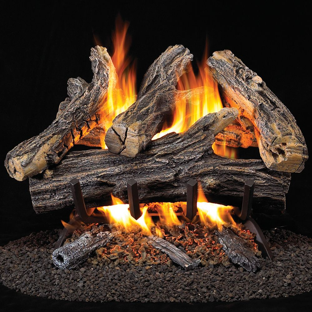 Decorative Logs Stone And Glass 38220 Procom Vented Natural Gas