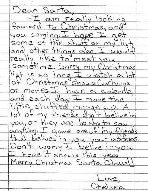 Examples Of Persuasive Letters To Santa