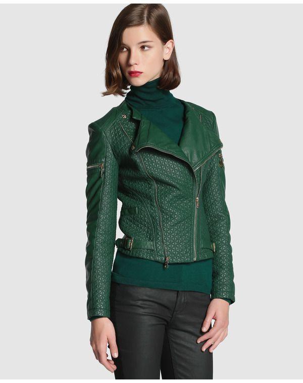 bastante agradable cccaa c13ce Cazadora de mujer Tintoretto | moda | Cazadoras mujer, Moda ...