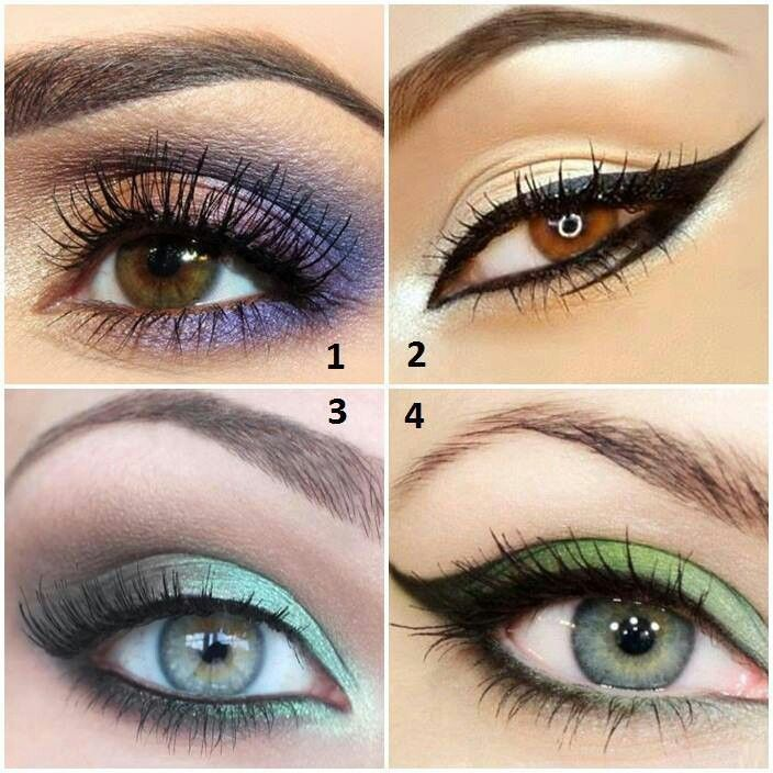 4 different colors and styles | Crazy eye makeup