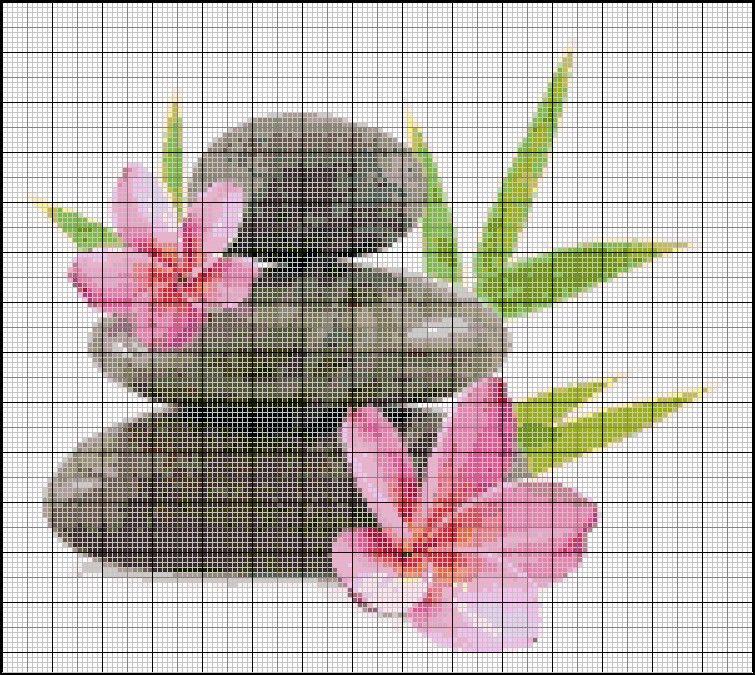 Grille point de croix zen gratuite broderies zen pinterest grille point de croix zen et - D m c broderie grilles gratuites ...