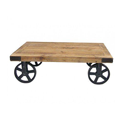 Table Basse Industrielle À Roulettes | Meubles | Pinterest | Table