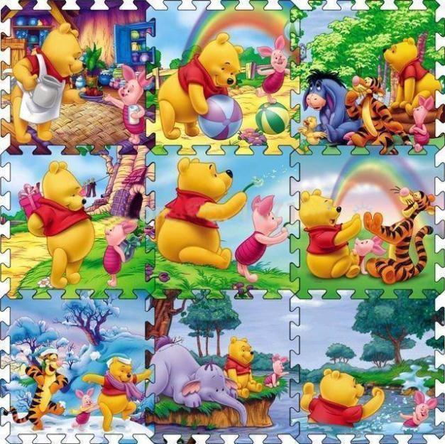9 개/대 위니 크롤링 체육관 러그 만화 바닥 놀이 매트 아기 등반 담요 게임 카펫 Eva 폼 퍼즐 Playmat 아기 장난감 선물