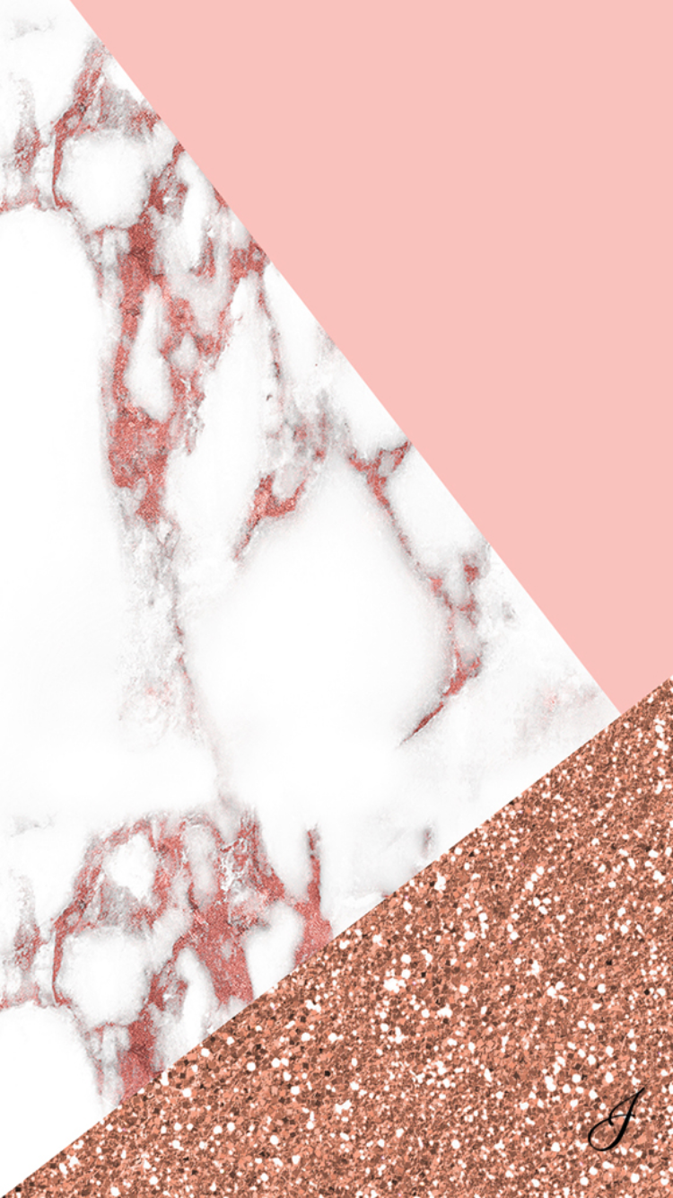 Pink marble iphone wallpaper iphone wallpapers - Rose gold glitter iphone wallpaper ...