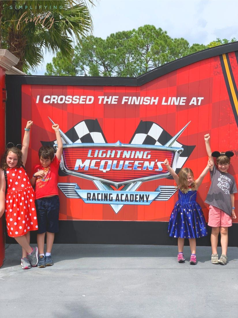 Lightning Mcqueen Invites Rookie Racers To Lightning Mcqueen S Racing Academy To Learn Hollywood Studios Disney Hollywood Studios Disneyland Resort California