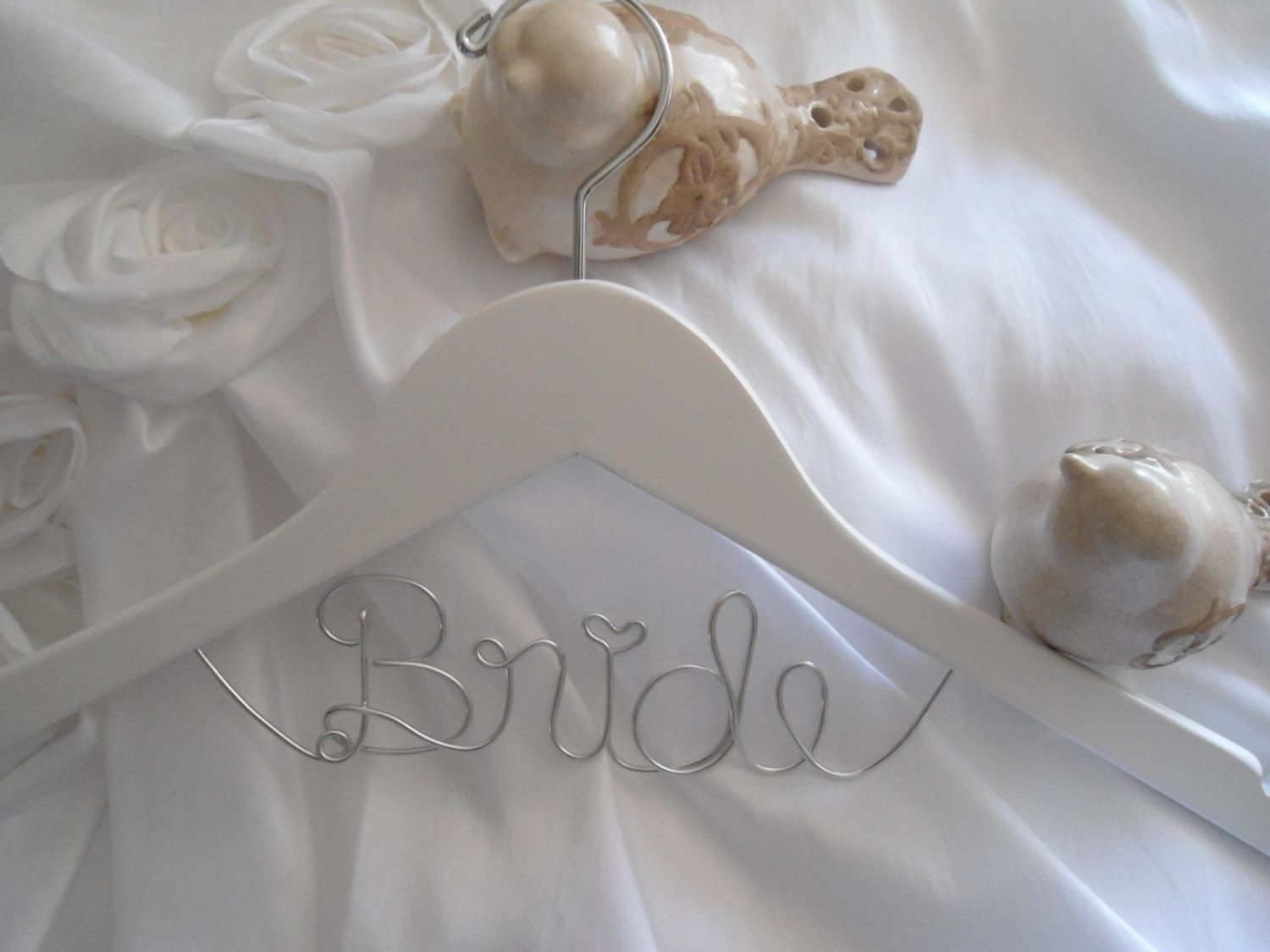 Bridal Hanger one Line, Custom Bridal Hanger, Brides Hanger, Name ...
