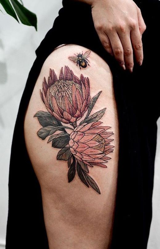 Sophia Baughan Flower Tattoo Bee Tattoo Tattoos Bumble Bee Tattoo