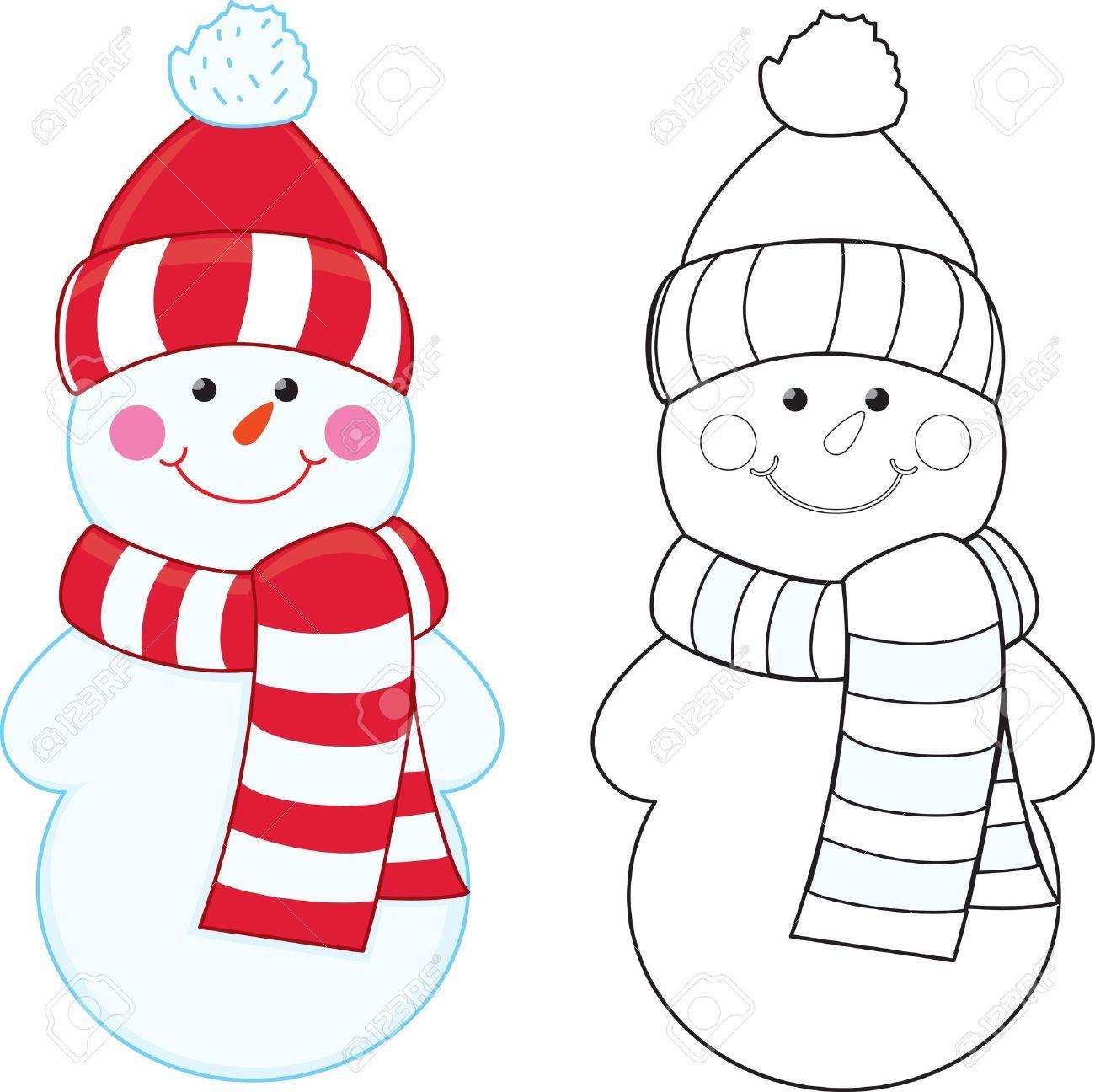 Resultado de imagen para hombre de nieve para colorear | Navidad ...