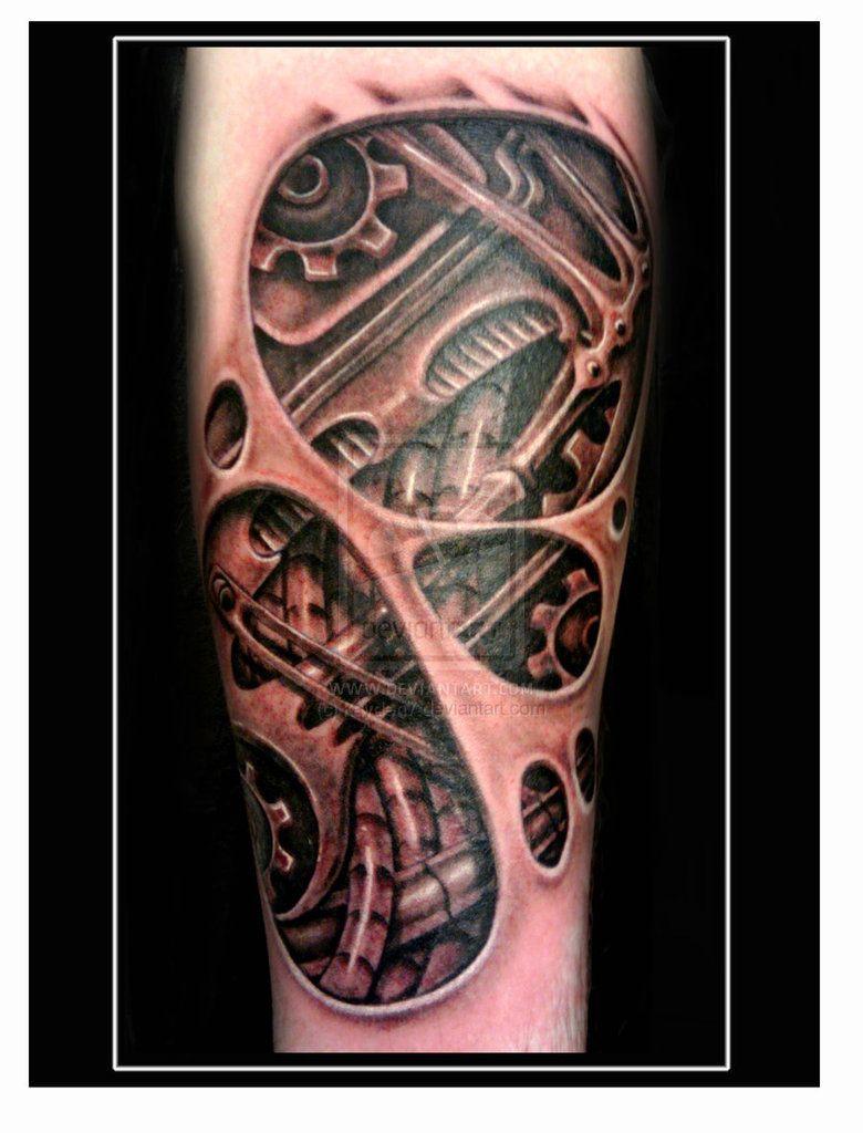 Mechanical Gears Tattoo   Biomechanical underskin tattoo ...