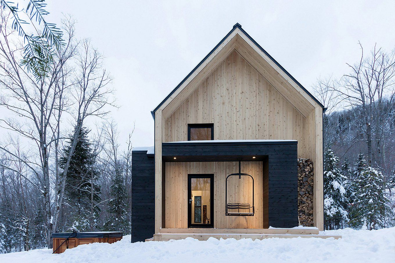 Scandinavian Architecture In Canadian Forest Building A Container Home Architecture Scandinavian Architecture