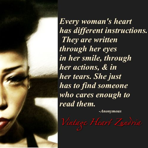 Every woman's heart has different instructions...