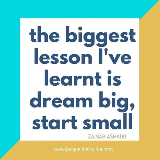 Hereu0027s A Nice Quote To Kick Start 2018 In Full Swing. Start Small And Aim