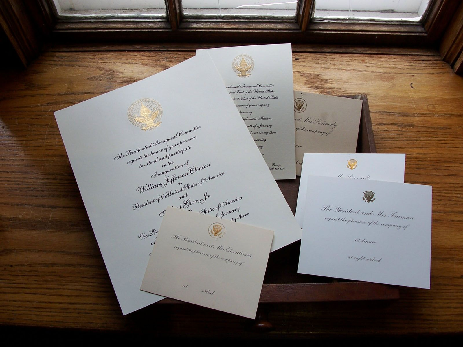 Presidential Stationery Printed On Crane Amp Co Paper If It S Fit For The Past And Present