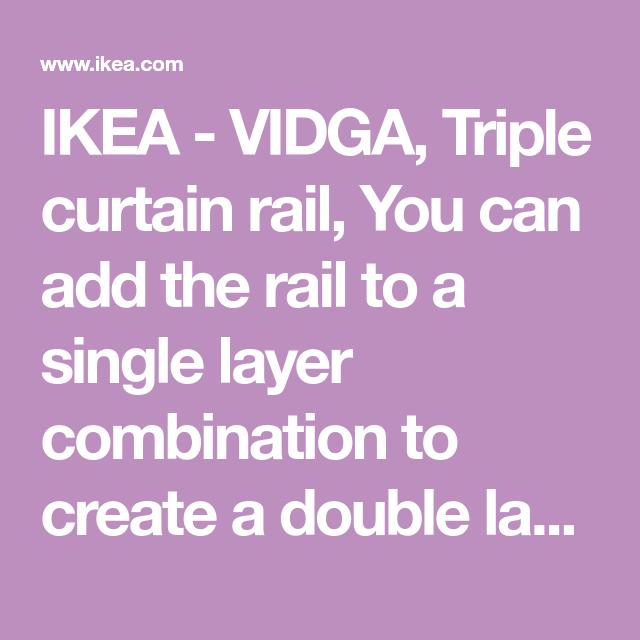 Ikea Vidga White Triple Curtain Rail Ikea Curtain Rails Curtains