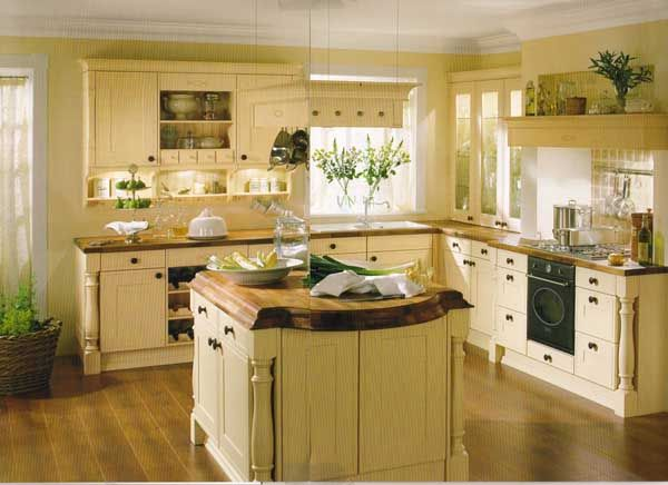 l shapedcountry kitchen designs with island Country House - landhauskchen mediterran