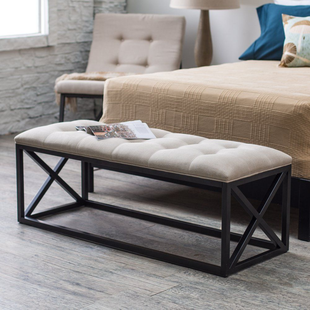 Belham Living Grayson Tufted Entryway Bench Entryway Bench Indoor Bench Bed Linens Luxury
